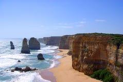 Douze apôtres et falaises Photo stock