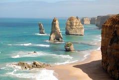 Douze apôtres sur la route grande d'océan Image libre de droits