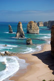 Douze apôtres sur la route grande d'océan Photographie stock