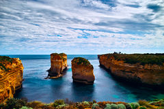 Douze apôtres sur la route grande d'océan Images libres de droits