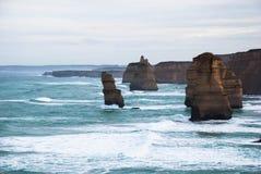 Douze apôtres, attraction touristique, point d'intérêt, Victoria, Australie Photographie stock libre de droits