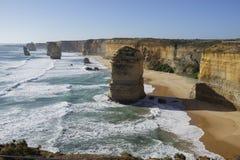 Douze apôtres - grande route d'océan Photographie stock