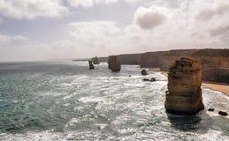 Douze apôtres, grande route d'océan, Australie photo stock