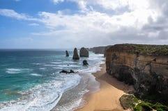 Douze apôtres, route grande d'océan images libres de droits