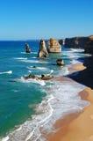 Douze apôtres sur la route grande d'océan Images stock