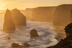 Douze formations de roche d'apôtres, Australie photos libres de droits