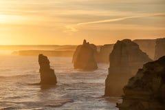 Douze formations de roche d'apôtres, Australie images libres de droits