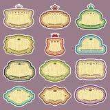 Douze labels de grunge de vecteur (couleurs de CMYK) Photo stock