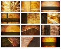 Douze milieux de carte de visite professionnelle de visite réglés illustration de vecteur
