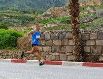 Dov Kremer Marathon Runner. Dov Kremer Tiberius 2013 marathon senior winner Royalty Free Stock Image
