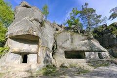 Dovbush岩石  免版税库存图片