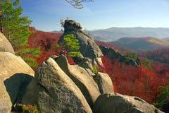 Dovbush Rocks in Bubnyshche Royalty Free Stock Photography