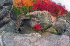 Dovbush Rocks in Bubnyshche Stock Photography