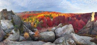 Dovbush Rocks in Bubnyshche Royalty Free Stock Photos