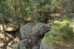 Dovbush rocks. Nature of the Carpathians Yaremche Royalty Free Stock Images