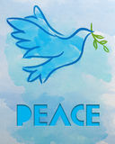 Dove � Symbol of Peace Royalty Free Stock Image