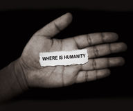 Dove è l'umanità fotografie stock