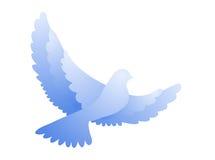 Dove. Symbolic illustration wiyj flying symbolic dove vector illustration