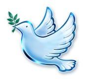 Dove. Digital illustration of Dove with olive branch stock illustration