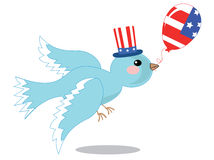 Dove. With balloon, independence day Royalty Free Stock Photos