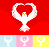 Dove. Happy dove in vector illustration Royalty Free Stock Image