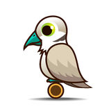 Dove bird cartoon Royalty Free Stock Photos