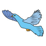Dove Bird Poultry beast icon cartoon design abstract illustration animal. Graphic  illustration Stock Photos
