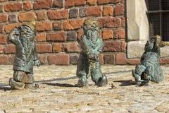 Dove blinde en stodde dwergen in Wroclaw Royalty-vrije Stock Afbeeldingen