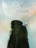 Dove in a cliff royalty free illustration
