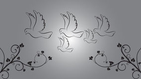 Dove clip art Royalty Free Stock Image
