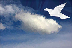 Dove on cloud Royalty Free Stock Photography