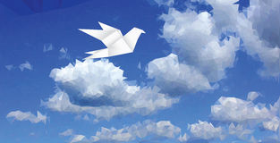 Dove on cloud Royalty Free Stock Photos