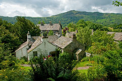 Dove cottage and landscape Royalty Free Stock Images
