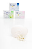 Dove cream beauty bar soaps Royalty Free Stock Photo
