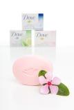 Dove cream soap bars Royalty Free Stock Photo