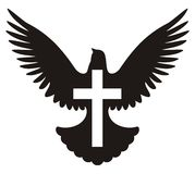 Dove with cross symbol
