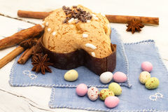 Dove with easter chocolates-colomba pasquale Royalty Free Stock Images