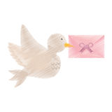 Dove and envelope wedding symbol icon Stock Photo