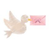 Dove and envelope wedding symbol icon. Vector illustration eps 10 Stock Photo