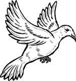 Dove in flight illustration. Vector format fully editable Stock Photo