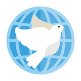 Dove flying bird vector illustration cartoon cute fauna peace symbol feather flight animal silhouette Royalty Free Stock Images
