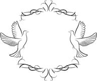 Dove and frame background Royalty Free Stock Image