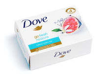 Dove Go fresh restore - beauty cream bar soap isolated on white Royalty Free Stock Image