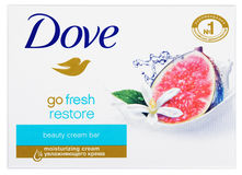 Dove Go fresh restore - beauty cream bar soap isolated on white. MOSCOW, RUSSIA - FEBRUARY 5, 2017: Top view of Dove Go fresh restore - beauty cream bar soap Stock Photography