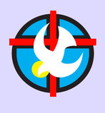 Dove - Holy spirit. Dove-Holy spirit art design logo Royalty Free Stock Photos