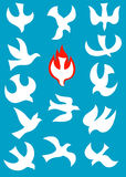 Dove-Holy spirit. Art design picture Royalty Free Stock Photo