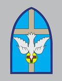 Dove Holy spirit with cross church Royalty Free Stock Photo