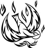 Dove-Holy spirit ornate Stock Image