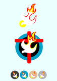 Dove Holy spirit. Dove peace art vector illustration-----vector -----EPS Stock Photos