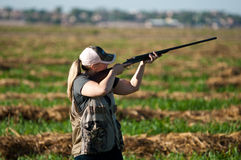 Dove Hunter takes aim Stock Photos